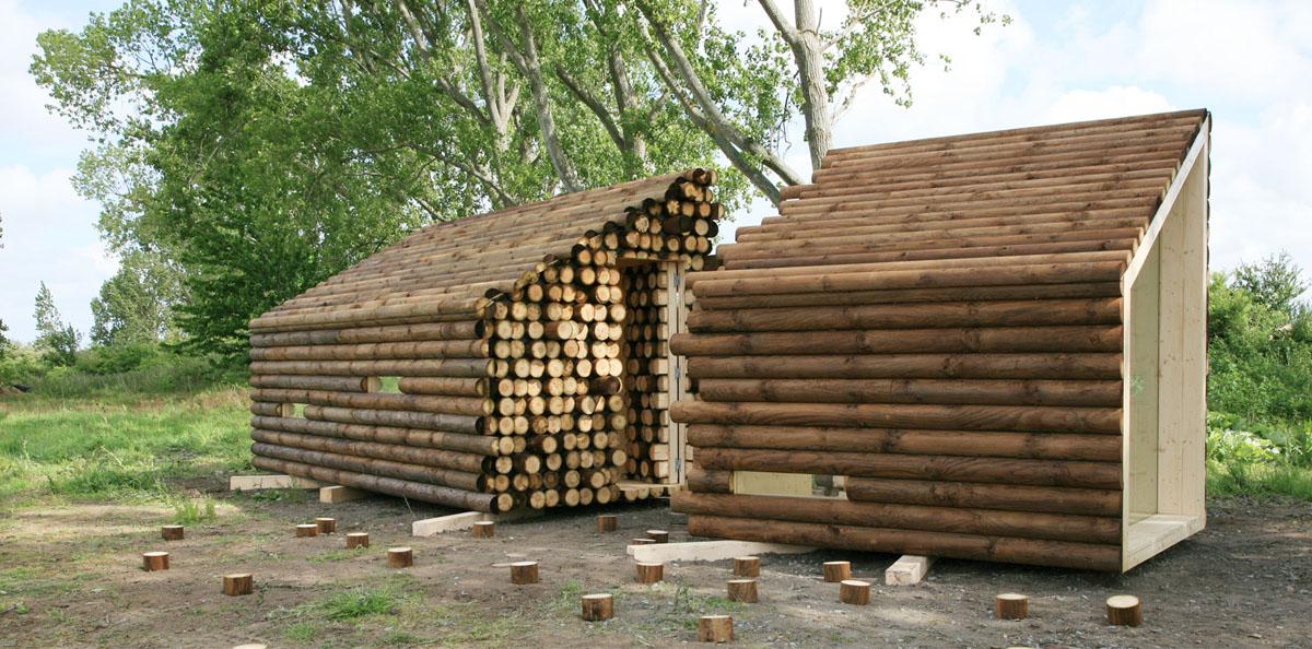 Casa di tronchi for Case di tronchi con planimetrie seminterrato