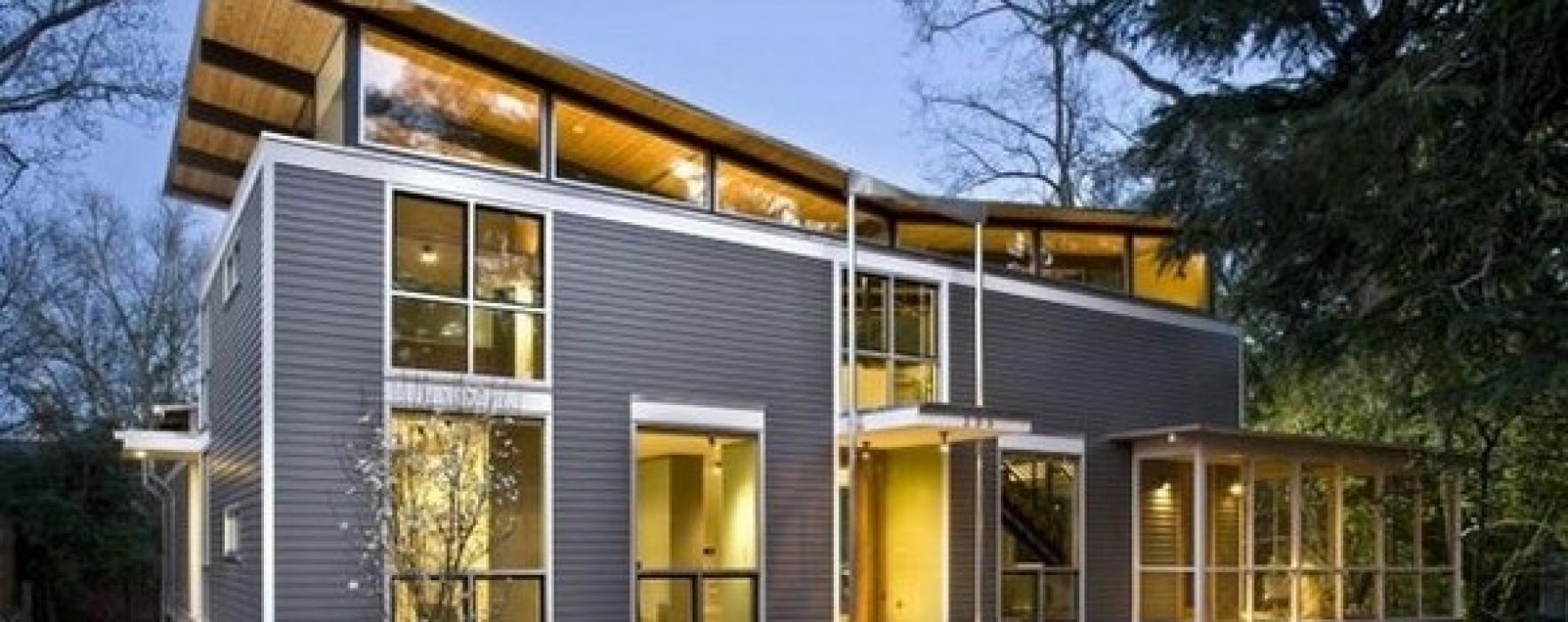 case in legno e acciaio