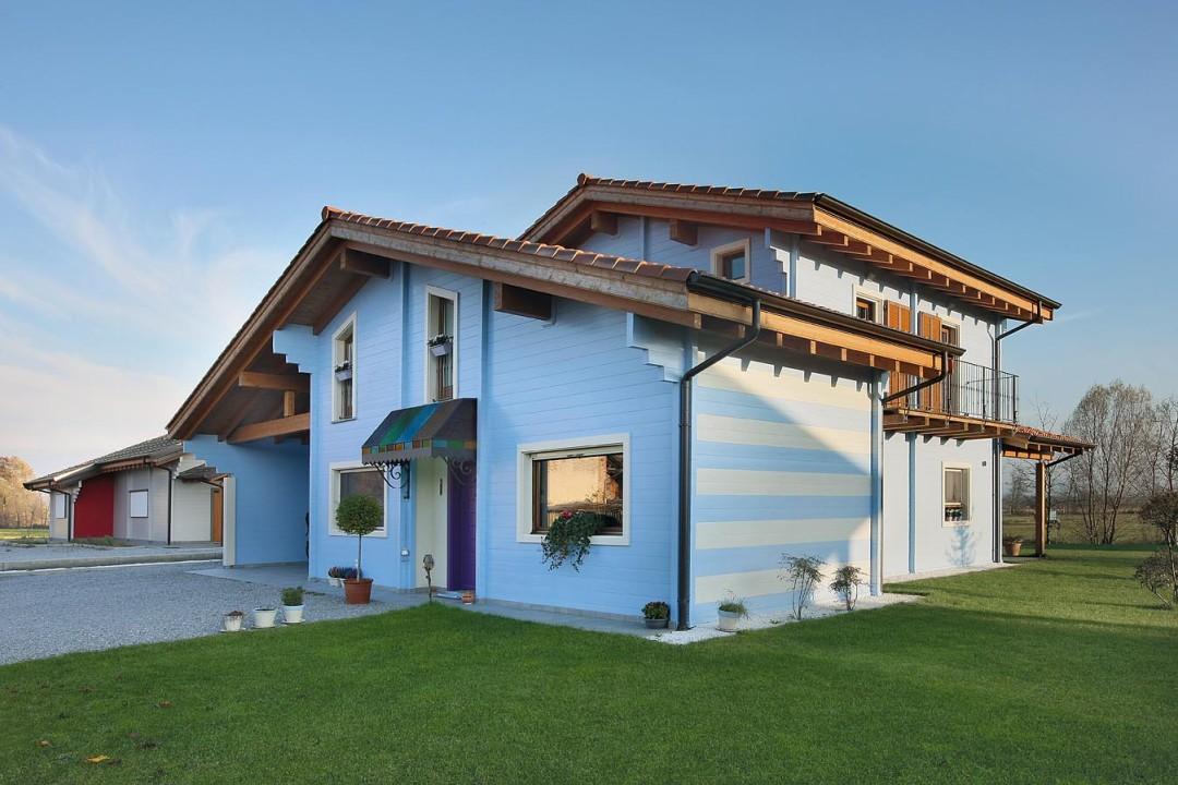 Case prefabbricate in legno ecologiche a basso consumo for Colori per esterni villette