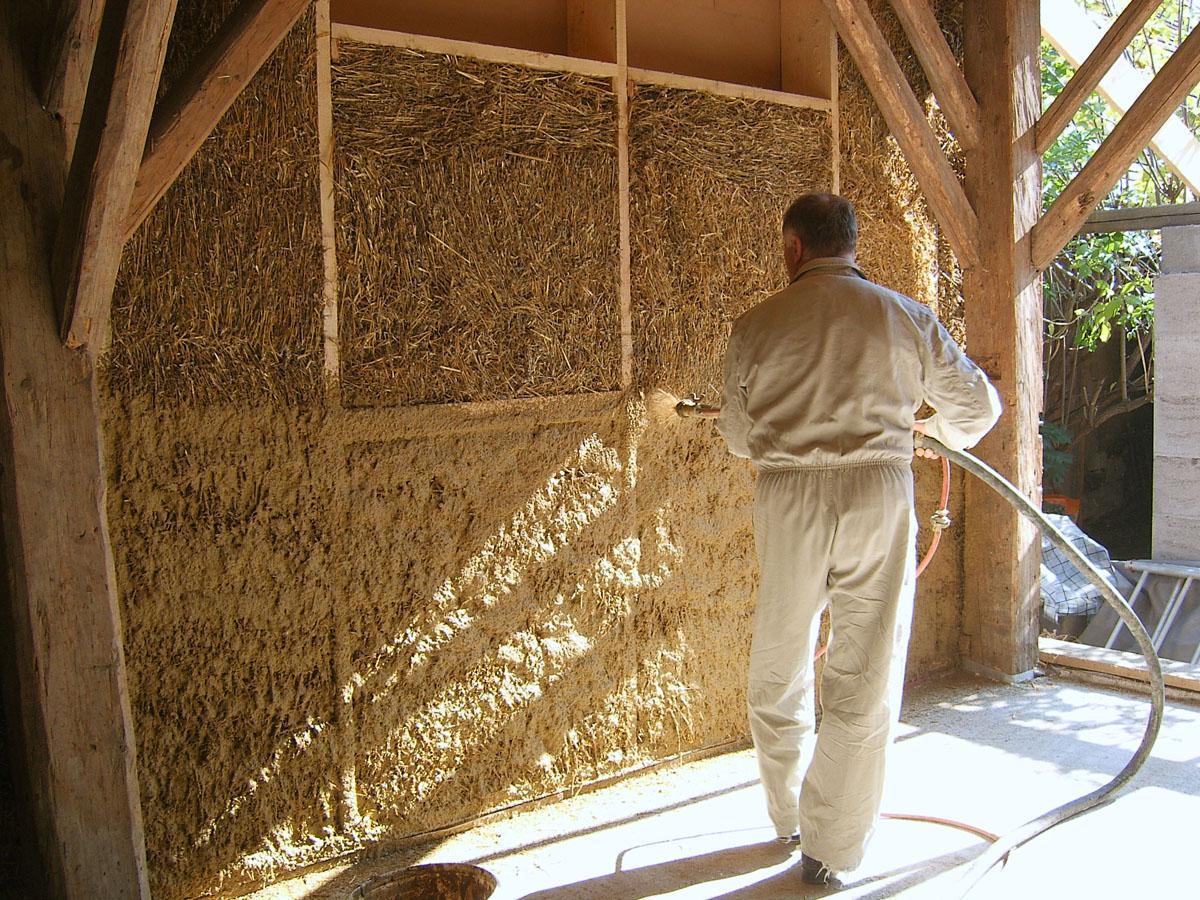 La parete esterna delle case prefabbricate in legno ...