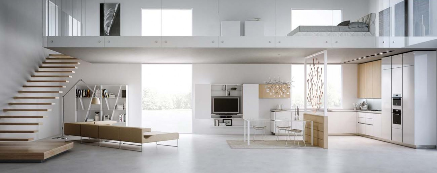 Soppalchi e case prefabbricate for Tre piani di garage per auto con soppalco