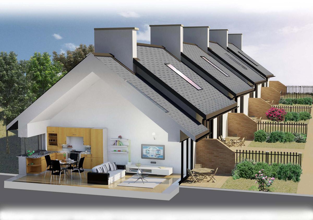Uno schermo verde per le case prefabbricate for Le case prefabbricate