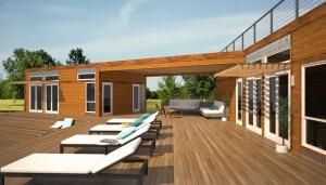villa di legno