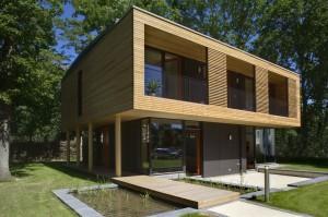 villa moderna legno