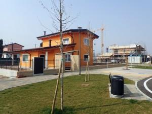 villaggio in legno