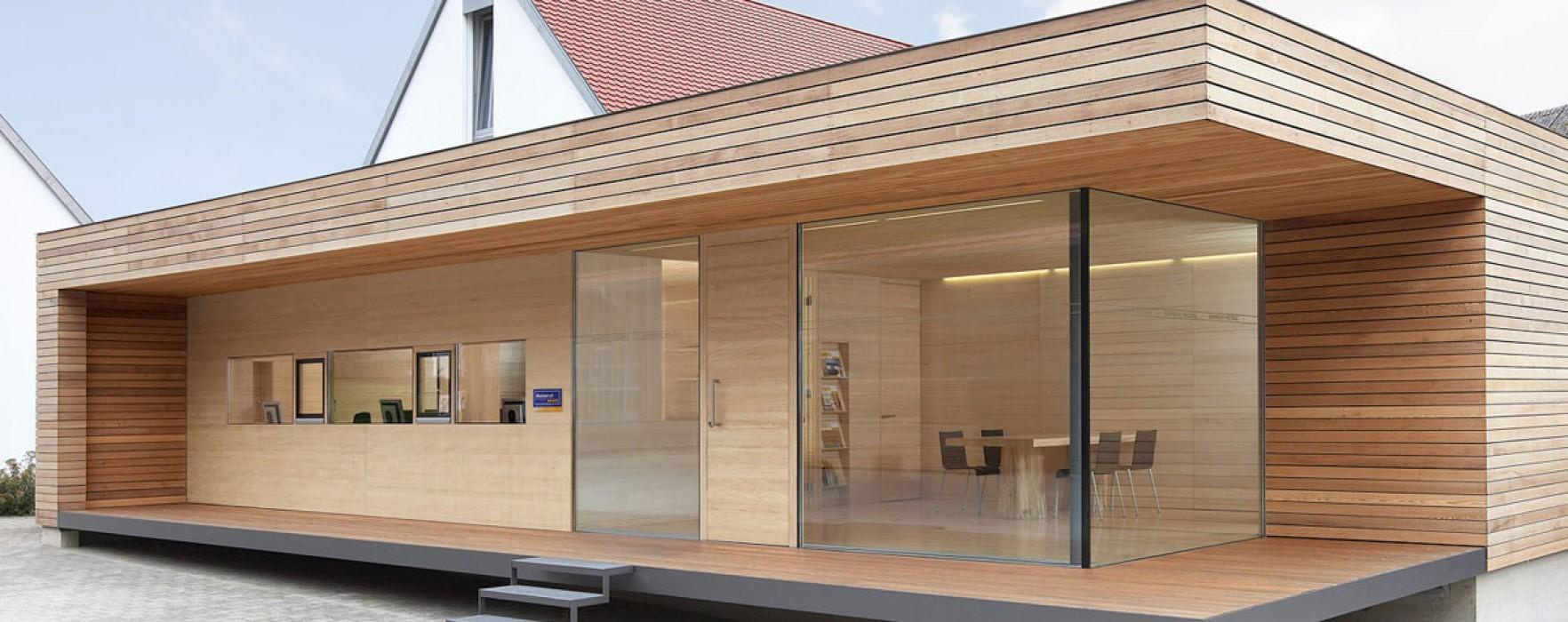 Una casa prefabbricata in svizzera for Case di legno in romania