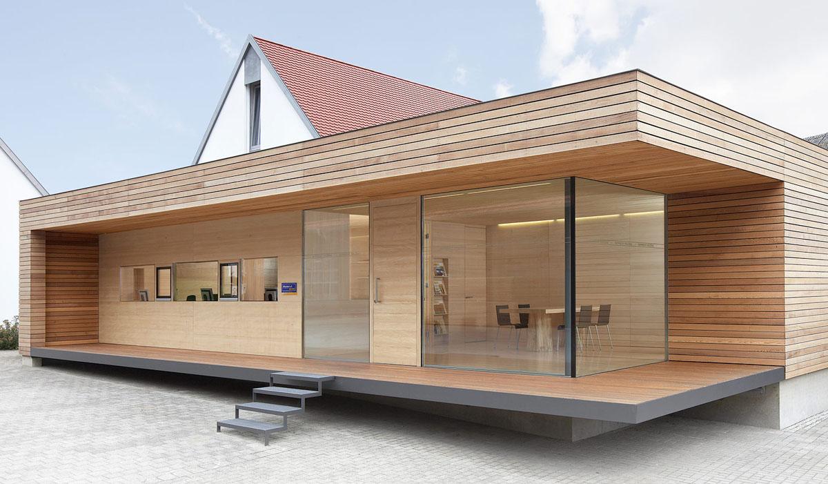 Una casa prefabbricata in svizzera for Casa prefabbricata in legno su terreno agricolo