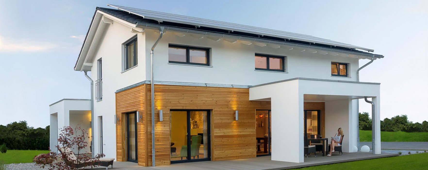 Casa jubil e xxl plus di haas efficienza energetica per for Casa moderna bianca esterno