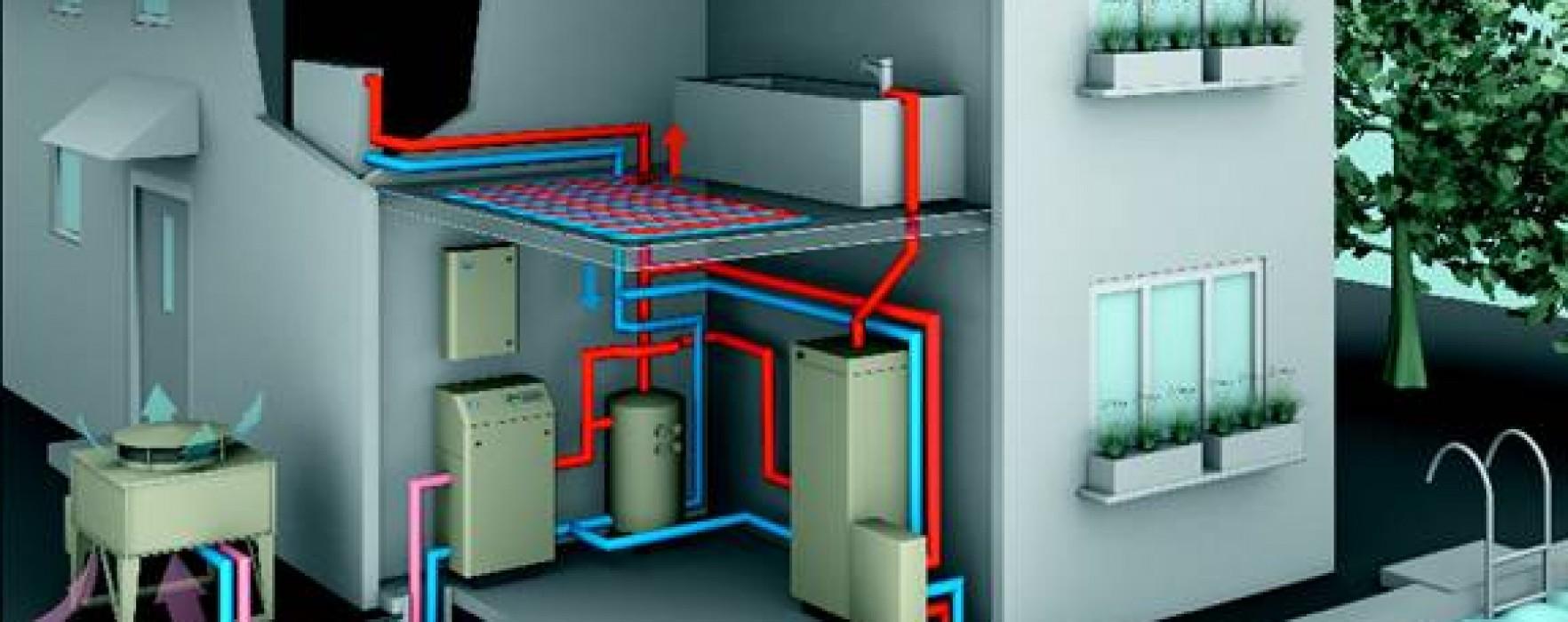 Pompa Di Calore Ventilconvettori pompe di calore e case prefabbricate